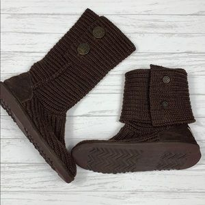 UGG foldover sweater knit button